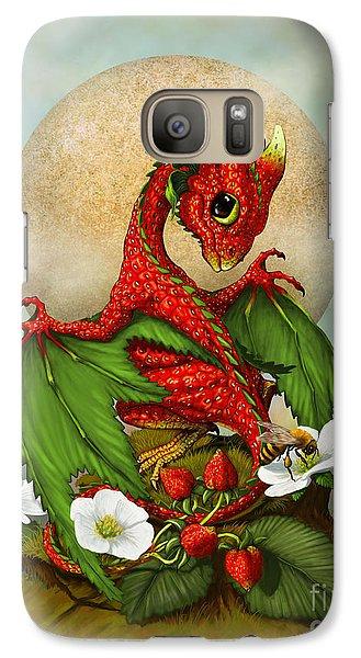 Dragon Galaxy S7 Case - Strawberry Dragon by Stanley Morrison
