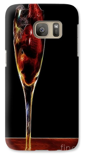 Galaxy Case featuring the photograph Strawberry Sparkler by Shirley Mangini