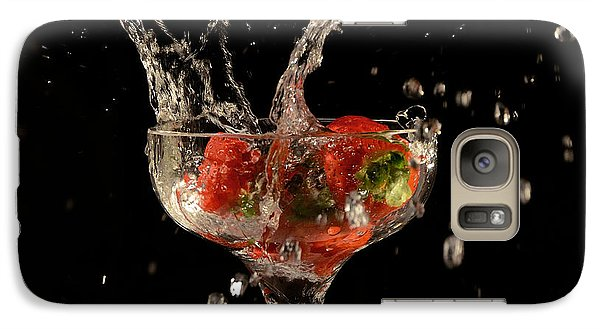 Galaxy Case featuring the photograph Strawberry Splash 1 by Thomas Born