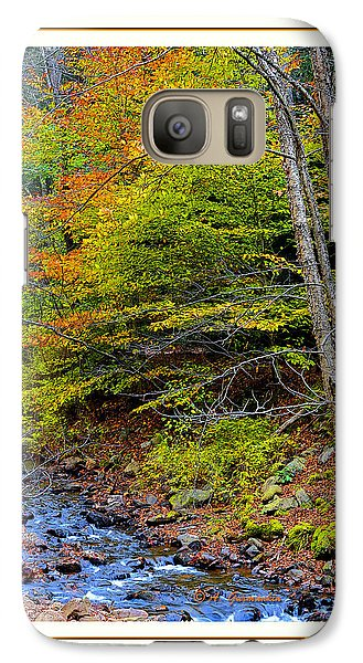 Galaxy Case featuring the photograph Stream In Autumn Pocono Mountains Pennsylvania by A Gurmankin