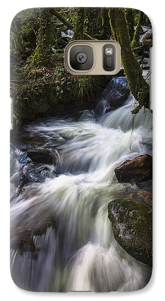 Galaxy Case featuring the photograph Stream On Eume River Galicia Spain by Pablo Avanzini