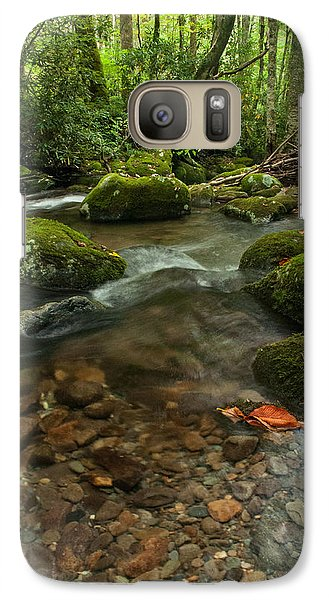 Galaxy Case featuring the photograph Stream With The Color Of Early Fall. by Debbie Green