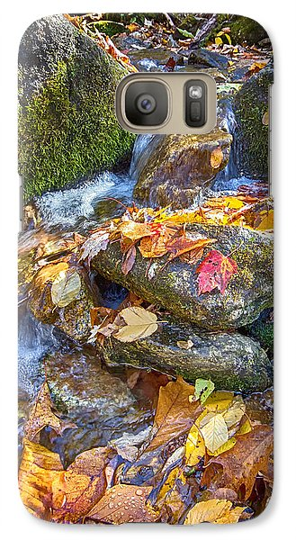Galaxy Case featuring the photograph Streaming Leaves by Alan Raasch