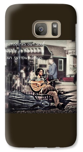 Galaxy Case featuring the photograph Street Beats Inspiration by Melanie Lankford Photography