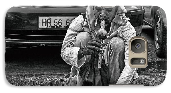 Galaxy Case featuring the photograph Street Corner Snake-charmer by John Hoey