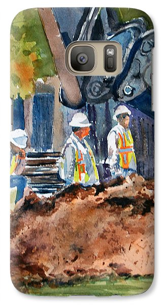 Galaxy Case featuring the painting Street Improvements 2 by Ron Stephens
