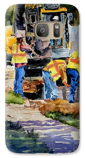 Galaxy Case featuring the painting Street Improvements by Ron Stephens