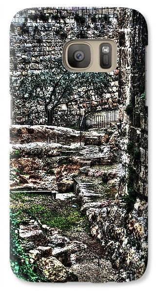 Galaxy Case featuring the photograph Street In Jerusalem by Doc Braham