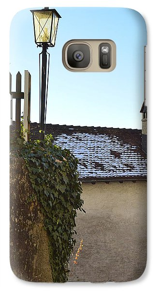 Galaxy Case featuring the photograph Street Lamp At The Castle  by Felicia Tica
