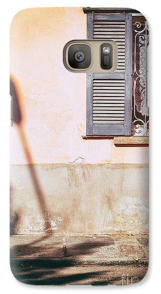 Galaxy Case featuring the photograph Street Lamp Shadow And Window by Silvia Ganora