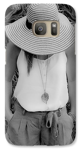 Galaxy Case featuring the photograph Street Lily Revisted by Michael Nowotny