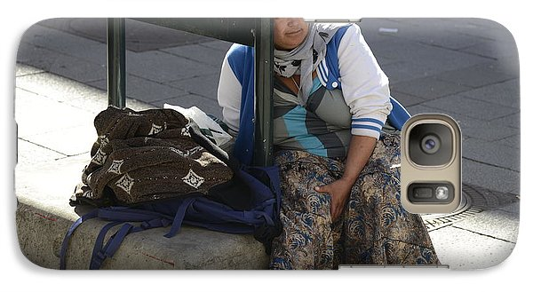 Galaxy Case featuring the photograph Street People - A Touch Of Humanity 10 by Teo SITCHET-KANDA