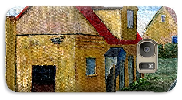 Galaxy Case featuring the painting Street View In Zealand by Lenora  De Lude