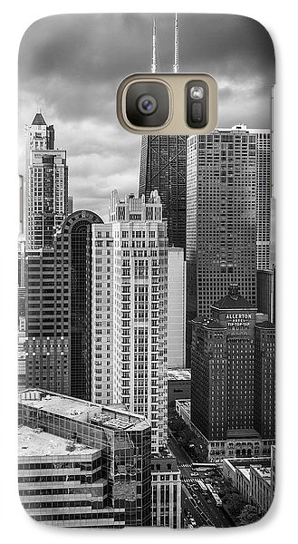 Streeterville From Above Black And White Galaxy S7 Case