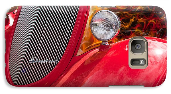 Galaxy Case featuring the photograph Streetrod Red by Mick Flynn