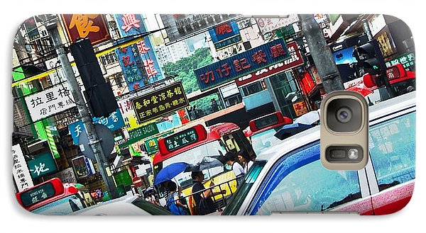 Galaxy Case featuring the photograph Streets Of Hong Kong by Sarah Mullin