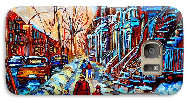 Galaxy Case featuring the painting Streets Of Montreal by Carole Spandau