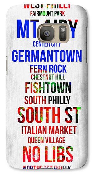 Philadelphia Galaxy S7 Case - Streets Of Philadelphia 1 by Naxart Studio