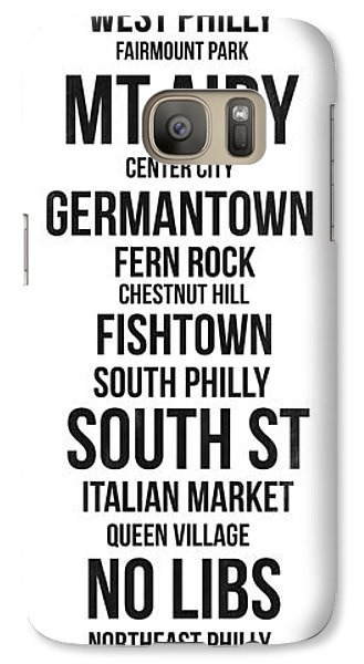 Philadelphia Galaxy S7 Case - Streets Of Philadelphia 3 by Naxart Studio