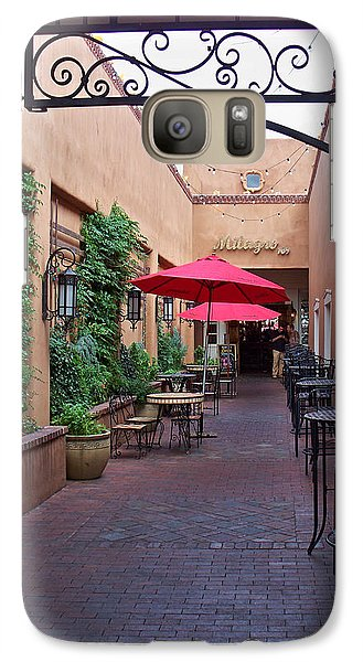 Galaxy Case featuring the photograph Streets Of Santa Fe by Sylvia Thornton