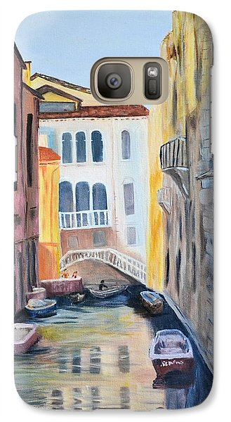 Galaxy Case featuring the painting Streets Of Venice by Debbie Baker