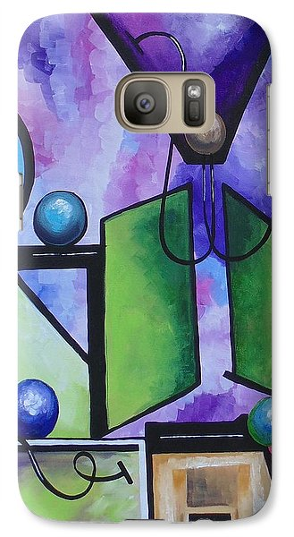 Galaxy Case featuring the painting Strength II by Nereida Rodriguez
