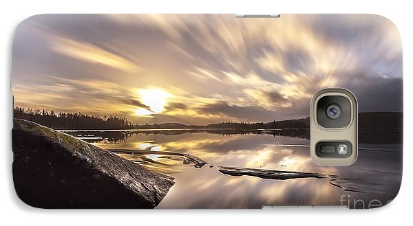 Galaxy Case featuring the photograph Strength In The Storm by Rose-Maries Pictures