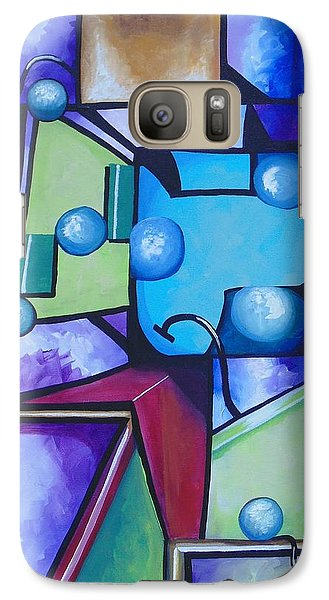 Galaxy Case featuring the painting Strength by Nereida Rodriguez