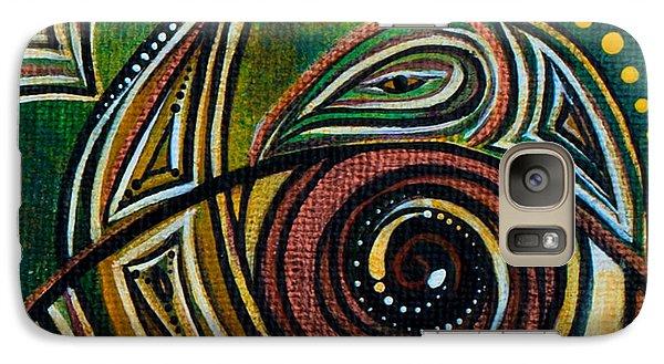 Galaxy Case featuring the painting Strength Spirit Eye by Deborha Kerr