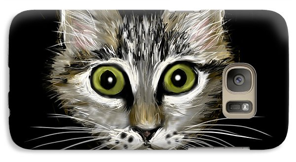 Galaxy Case featuring the painting Strengthening Cat by Jean Pacheco Ravinski