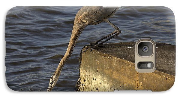 Galaxy Case featuring the photograph Stretch - Great Blue Heron by Meg Rousher