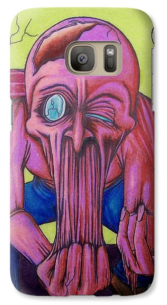 Galaxy Case featuring the drawing Stretching The Truth by Michael  TMAD Finney