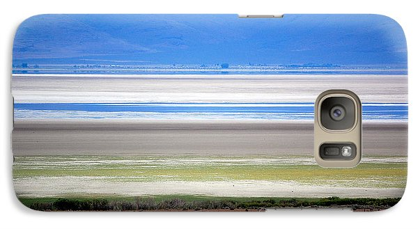 Galaxy Case featuring the photograph Striations At Honey Lake by AJ  Schibig