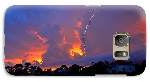 Galaxy Case featuring the photograph Strike Up The Middle At Sunset by Jeff at JSJ Photography