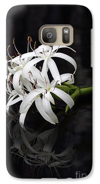 Galaxy Case featuring the photograph String Lily #1 by Paul Rebmann