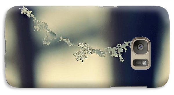 Galaxy Case featuring the photograph String Of Snowflakes by Candice Trimble