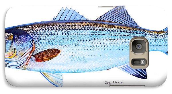 Striped Bass Galaxy Case by Carey Chen