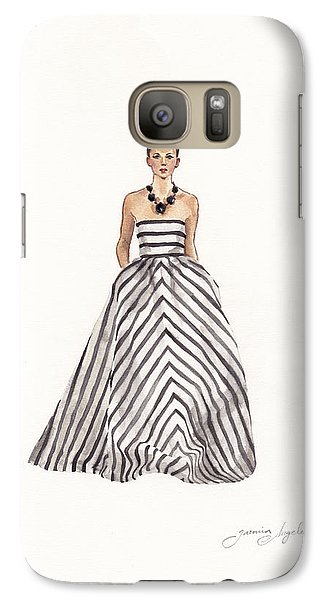 Striped Glamour Galaxy Case by Jazmin Angeles