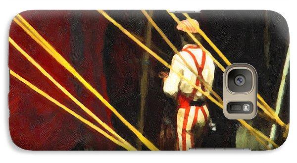 Galaxy Case featuring the digital art Striped Pants by Spyder Webb