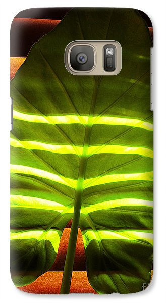 Galaxy Case featuring the photograph Stripes Of Light by Nina Ficur Feenan