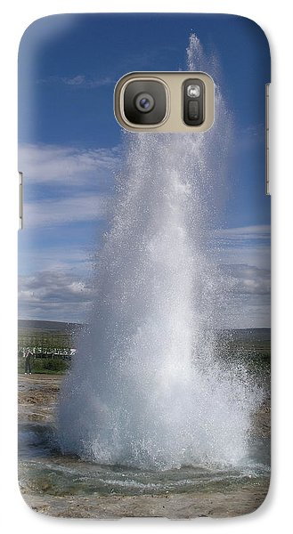Galaxy Case featuring the photograph Strokkur by Christian Zesewitz