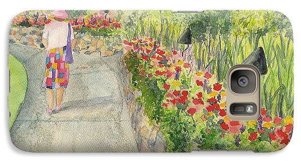 Galaxy Case featuring the painting Strolling Butchart Gardens by Vicki  Housel