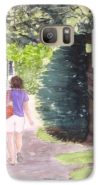 Galaxy Case featuring the painting Strolling With Mom by Carol Flagg