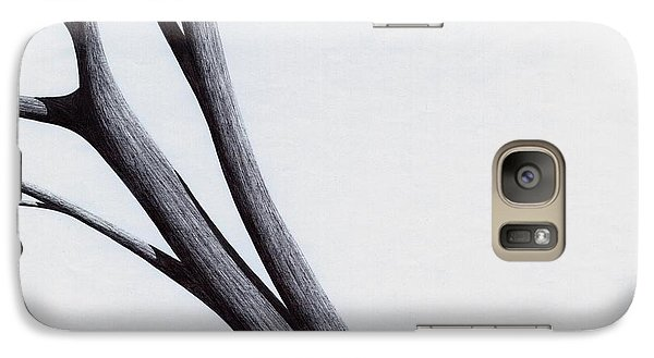 Galaxy Case featuring the drawing Strong Branches Between Light by Giuseppe Epifani