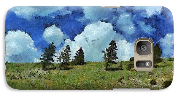 Galaxy Case featuring the digital art Strong Winds by Carrie OBrien Sibley