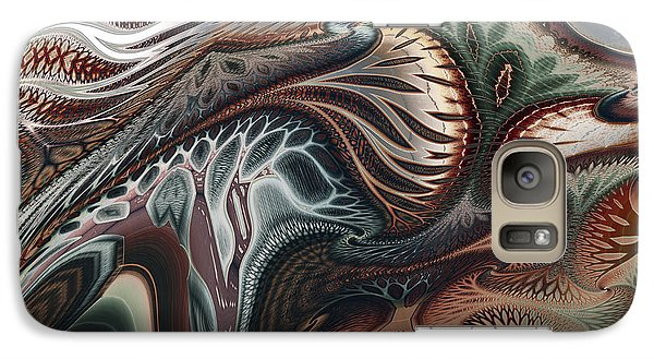 Galaxy Case featuring the digital art Struggle by Kim Redd
