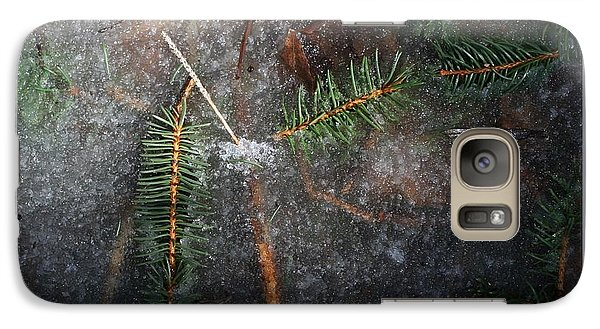 Galaxy Case featuring the photograph Stuck In The Ice-iii by Patricia Overmoyer