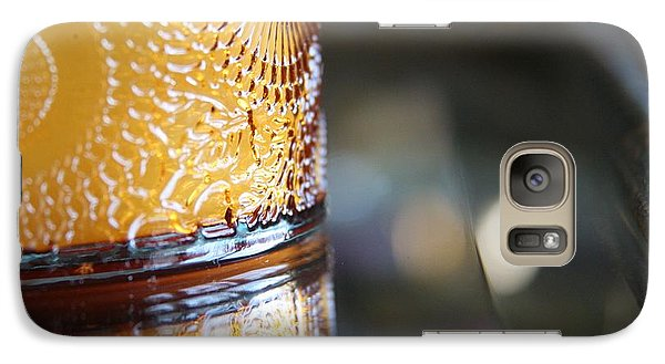 Galaxy Case featuring the photograph Studies In Glass ...amber by Lynn England