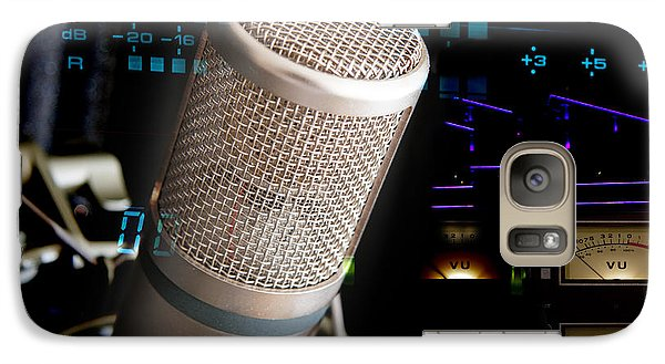 Galaxy Case featuring the photograph Studio Microphone And Recording Gear by Gunter Nezhoda