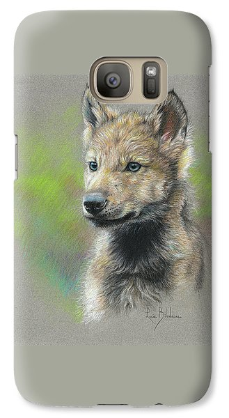 Wolves Galaxy S7 Case - Study - Baby Wolf by Lucie Bilodeau